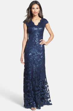 Tadashi Shoji Sequin Lace Gown | Nordstrom
