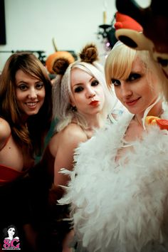 Sexy SuicideGirls Bob, Antigone, Rigel in disguise and on the prowl for Halloween  http://suicidegirls.com/join