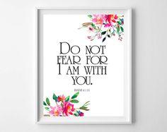 Scripture art Do Not Fear Isaiah 41:10,Bible Verse Art,Christian Printable,Scripture Decor,Christian Art,Baptism decor,Bible Verse Art by MakesMyDayHappy on Etsy