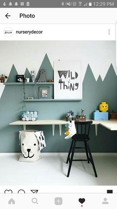 Feature wall but the green mountain as blackboard paint