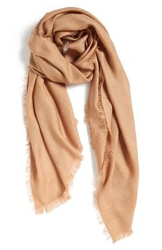 camel colored woven scarf