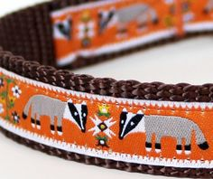 Hey, I found this really awesome Etsy listing at http://www.etsy.com/listing/96637962/badger-folk-dog-collar-pet-accessory