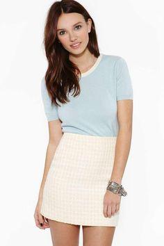 Vintage Chanel Ciel Cashmere Top