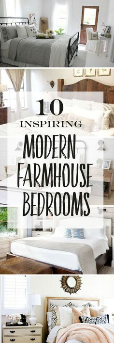 These inspirational Modern Farmhouse Bedrooms have a beautiful mix of finishes, fabrics,lighting, and decor. Which one is your favorite?