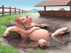 Pig by Aidar Zeineshev, via Behance