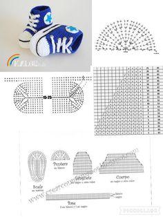Amazing Crochet Baby Boy Shoe Pattern 2 Baby Slippers - Do It Yourself - . - Amazing Crochet Baby Boy Shoe Pattern 2 Baby Slippers – Do It Yourself – maallure # - Crochet Baby Sandals, Booties Crochet, Crochet Slippers, Baby Knitting Patterns, Baby Patterns, Crochet Patterns, Crochet Ideas, Doll Patterns, Baby Converse