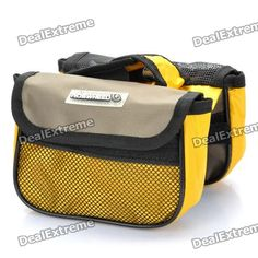 Color: Yellow + Black - Canvas material - Clips easily on to the bike to secure camera, mobile phone or other small gadget http://j.mp/VIJF4k