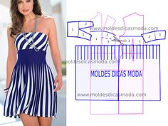 BLUE RISK DRESS - Custom Made Fashion Molds