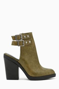 Shoe Cult Kade Cutout Bootie in Olive #ShoeCult
