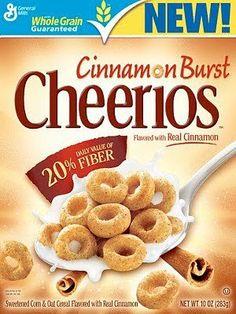 Cinnamon Burst Cheerios Serving Size: 1 cup 3 pointsplus+