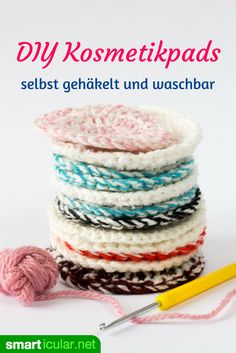 cotton pads: Cosmetic pads ° C washable) just crochet yourself! Adieu cotton pads: Cosmetic pads ° C washable) just crochet yourself!, Adieu cotton pads: Cosmetic pads ° C washable) just crochet yourself! I Cool, Cotton Pads, Tampons, Helly Hansen, Crochet Patterns, Knitting Patterns, Toddler Crafts, Diy Beauty, Diy Gifts