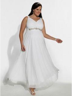 White Diamonds Plus Size Wedding Gown - Bridal Collection by IGIGI