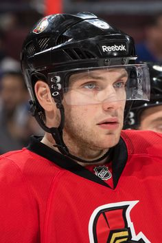Bobby Ryan Photos - Bobby Ryan of the Ottawa Senators looks on during a game against the Toronto Maple Leafs at Canadian Tire Centre on January 2015 in Ottawa, Ontario, Canada. - Toronto Maple Leafs v Ottawa Senators Bobby Ryan, New Jersey Devils, Toronto Maple Leafs, Best Player, Fine Men, Hockey Players, Ottawa, Athletes, Riding Helmets