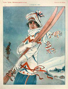 1920s France La Vie Parisienne Drawing - 1920s France La Vie Parisienne Fine Art Print