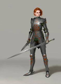 Female Elf, Female Armor, Female Knight, Female Anime, Red Knight, Knight Art, Elf Armor, Knight Outfit, Dungeons And Dragons Art