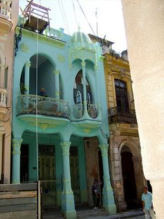 Art Nouveau Architecture in Old Havana by adokken, via Flickr