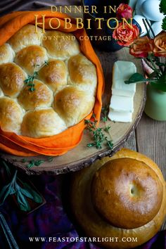 A recipe for a crown loaf and white cottage loaf from Mary Berry for the Hobbiton dinner feast. This bread is part of the feast created for Hobbit Day.