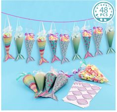 48 Mermaid Gift Bags Party Favors Mermaid Tail Bags Goodie Bags Thank You Stickers Kids Birthday Mermaid Baby Shower Decorations Supplies - Mitbringsel Mermaid Baby Shower Decorations, Mermaid Party Favors, Mermaid Baby Showers, Mermaid Gifts, Baby Mermaid, Mermaid Birthday, Mermaid Parties, Party Favor Bags, Birthday Party Favors