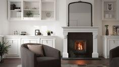 Stûv 6 - 46x55 #stuv #stûv #fireplace #woodburning #drefraapproved #interiordesign #home #miysis3dstudio Door Frame, Hearth, Wood Heater, Efficiency, Modern, Passive House, Home Decor, Fireplace, Fireplace Inserts