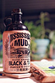mississippi mud brew... i bought this solely for the typography, but the beer was delicious too :)