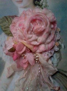 Luxe fleur table runner épais velours chenille satin gravé fête de noël