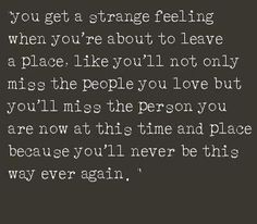I felt this way leaving Denver on 12/24/12. I cried the whole way back to NY. My soul knew.