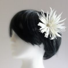 beautiful flower made of feathers so elegant and dainty
