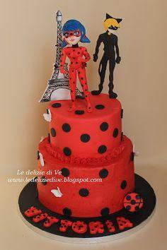 Le Delizie di Ve: LADYBUG MIRACULOUS CAKE