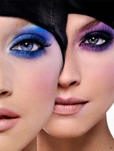 Vogue Germany October 2009 Beauty shot of blue and purple eyeshadow. Purple Eyeshadow, Eyeshadow Makeup, Kiss Makeup, Makeup Art, Makeup Ideas, Makeup Tips, Beauty Make Up, Hair Beauty, Smoky Eyes