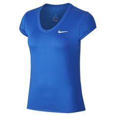Women`s Court Dry Short Sleeve Tennis Top Tennis Tops, Tennis Skort, Tennis Dress, Tennis Clothes, Sleek Look, Minimal Chic, White Style, Nike, Workout Tops