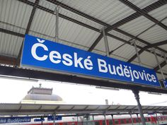 Bahnhofschild České Budějovice im Detail am Czech Republic, Broadway Shows, Detail, Bohemia