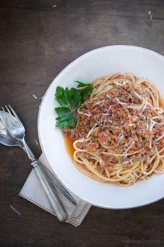 Bolognese Sauce - perfect comfort food from Taste Love & Nourish
