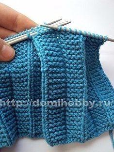 Попалось отличное описание вязания плиссе и складок. Думаю многим оно может пригодится для вязания юбок, платьев или же для обвязывания низа изделия. Такая техника вязания спицами из плиссированных узоров, она очень простая.