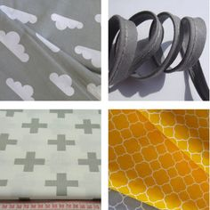 tissu imprime graphique gris jaune #pikebou - tissu geometrique, deco scandinave
