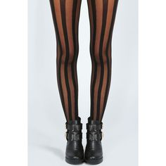 Boohoo Jenna Sheer With Solid Thick Stripe Tights featuring polyvore, fashion, clothing, intimates, hosiery, tights, leggings, socks, accessories, bottoms, sheer hosiery, sheer stockings and sheer tights