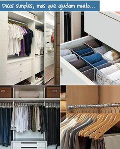 Dicas legais de como organizar melhor o armário!