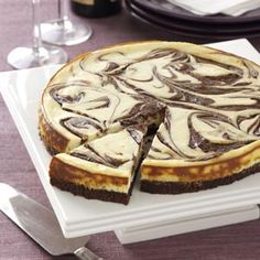 this is in my oven right now. brownie swirl cheesecake!