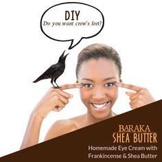 We can't make any promises about no crow's feet. What we do know is that protecting and nourishing the delicate eye area is essential. Enjoy the benefits of this DIY eye cream. And, enjoy making it. Personal Beauty Routine, Homemade Eye Cream, Frankincense Essential Oil, Crows Feet, Aloe Vera Gel, Beauty Bar, Best Face Products, Shea Butter, Delicate