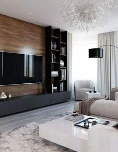amazing tv wall design ideas for living room decor 14 ~ Beautiful House Lovers Cozy Living Rooms, Living Room Interior, Home Living Room, Living Room Decor, Tv Wall Ideas Living Room, Wall Cabinets Living Room, Feature Wall Living Room, Tv Wall Decor, Wall Tv