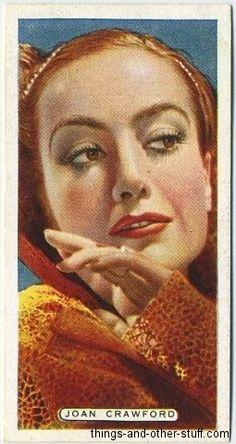 Joan Crawford 1935 Ardath Film, Stage and Radio Stars Tobacco Cards