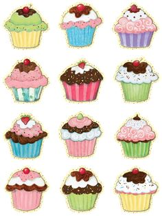 Teacher Created Resources Cupcakes Mini Accents from Susan Winget Cupcake Clipart, Cupcake Art, Adult Crafts, Crafts For Kids, Arts And Crafts, Video Game Decor, Teacher Created Resources, Paper Cake, Kids Board