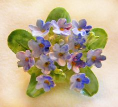 Flower Brooch Pin Porcelain England