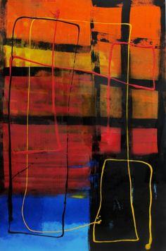 ST 37. Arte, Acrílico, Óleo, Galería, Interiorismo, Gráfica, Tinta, Decoración. Abstracto Rojo Artwork, Painting, Black, Acrylic Art, Ink, Abstract, Red, Paintings, Artists