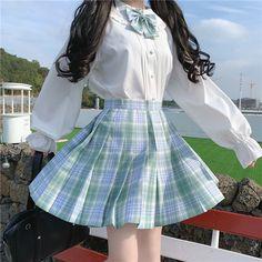 jk uniform shirt plaid skirt suit - Source by bedissimilarity - Korean Girl Fashion, Ulzzang Fashion, Harajuku Fashion, Cute Fashion, Fashion Outfits, Icon Fashion, Fashion Shirts, Asian Fashion, Fashion Ideas