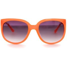 de335388fd Linda Farrow x Matthew Williamson Neon Orange Cat Eye Sunglasses ( 225) ❤  liked on
