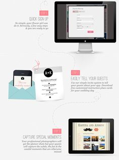 like the design of this info graphic for wedding-party-how-works app