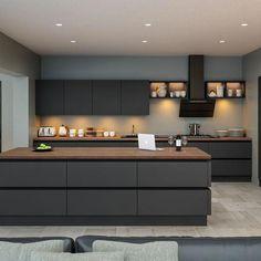 Small Modern Kitchen Design and Ultra Modern Kitchen Island. - Small Modern Kitchen Design and Ultra Modern Kitchen Island. Kitchen Room Design, Luxury Kitchen Design, Home Decor Kitchen, Interior Design Kitchen, Kitchen Ideas, Diy Kitchen, Rustic Kitchen, Kitchen Hacks, Interior Modern