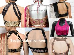 halter_neck_blouse_designs Blouse Neck Designs, latest neck designs for saree blouse and salwar kameez, neck designs, neck blouse designs, blouse neck patterns Blouse Designs High Neck, Sari Blouse Designs, Saree Blouse Patterns, Blouse Styles, Lehnga Blouse, Choli Designs, Lehenga Choli, Princess Cut Blouse Design, Stylish Blouse Design