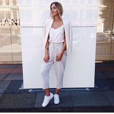 white #sneakers #blazer