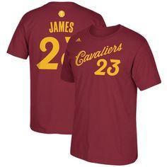 f0df45edd389 LeBron James Cleveland Cavaliers adidas 2016 Christmas Day Name   Number T- Shirt - Burgundy